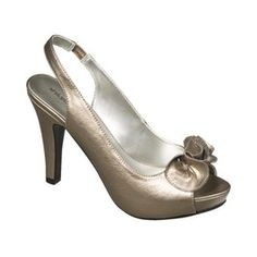 silver sling back open toe heals:)