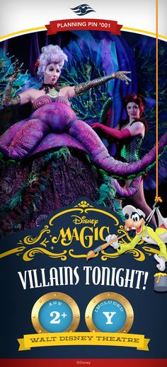 Disney Cruise Line Planning Pins | Disney Magic: Villains Tonight!