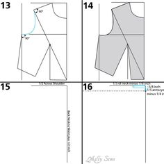 Armscye - Make a bodice pattern - bodice drafting - Melly Sews