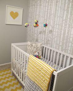 Grey, white and yellow nursery colors! Yellow Nursery, Nursery Neutral, Girl Nursery, Baby Boy Rooms, Baby Boy Nurseries, Baby Room, Benjamin Moore Stonington Gray, Superhero Room, Baby Faces