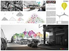 Positive Magazine Architecture Casa Blanca, Competition For New Sustainable Market Square Architecture Panel, Urban Architecture, Architecture Student, Architecture Layout, Architecture Graphics, Architecture Drawings, Architecture Portfolio, Project Presentation, Presentation Layout