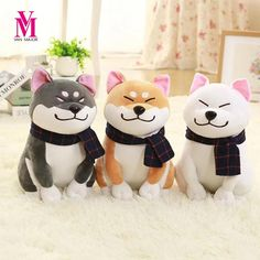 Real Cotton Tv & Movie Character Soft Unicorn Peluches Shiba Inu Dog Japanese Doll Toy Doge Cute Cosplay Gift 25cm