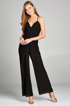 95a170b075d Pella Plunging V-Neck Jumpsuit - Black