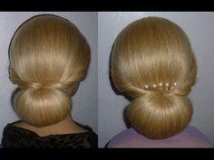 Frisuren mit Duttkissen/Dutt.Hochsteckfrisur.Hochzeitsfrisur.Donut Hair ...