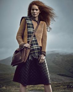 #Rutbag style. Our rutbag satchel with tartan trend and knitwear. Perfect winter style. Fabulous Magazine UK