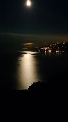 Moonlight on Lake Geneva
