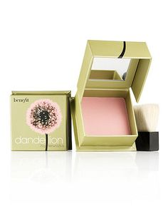 Benefit Dandelion: Beautiful packaging and beautiful color. Adds the perfect pinch of pink.