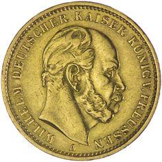 Preussen, Wilhelm I. 1861 - 1888  20 Mark 1875 A Gold Deutsches Kaiserreich
