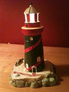 Items similar to Ceramic Light House with Light Kit on Etsy Class Birthdays, House Lamp, Paint Your Own Pottery, Ceramic Light, Light House, Surfs Up, Long Beach, Birthday Parties, Ceramics
