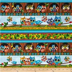 Owl In The Family Owl Stripe Multi