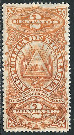 Nicaragua 2c Revenue Stamp Used | eBay