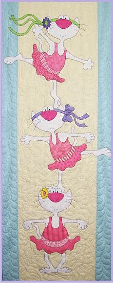 Ballerina Kitties Block of the Month from Amy Bradley available on quiltbug.com