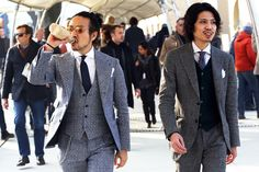 Two asian men in beautiful suits
