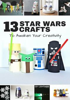 13 Star Wars Crafts to Awaken Your Creativity. These fun and clever Star Wars crafts are awesome ways to keep the force going strong. Make droids, incredible snowflakes, paper tube characters, and more fun intergalactic projects for kids.