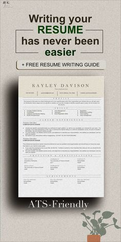 This Templates Include RESUME WRITING TIPS or RESUME GUIDE with how to write your cover letter as well. These include matching cover letter templates and Reference sheet template. Professional Resume Examples, Good Resume Examples, Modern Resume Template, Resume Templates, Cover Letter Template, Letter Templates, Effective Resume, Business Resume, Create A Resume