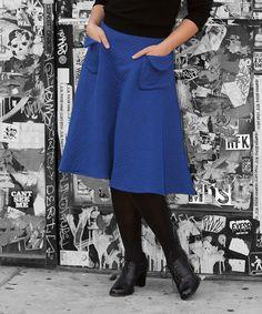Look what I found on #zulily! Tatyana Blue Snuggle Skirt - Women & Plus by Tatyana #zulilyfinds