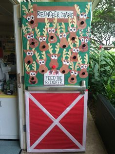"""""""Don't Feed the Reindeer"""" Holiday Door Decoration for school"""