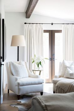 The top 23 White Linen Curtains images | Windows, Drapes curtains ...
