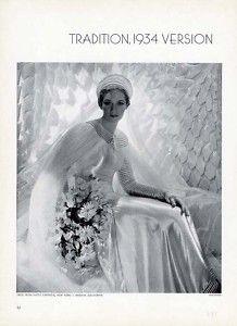 1934 HATTIE CARNEGIE - BRIDE Fashion