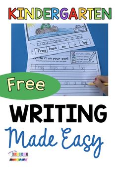 FREEBIE WRITING for kindergarten spring themes printable easy to use