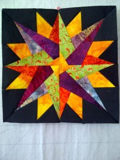 Colorful quilt block