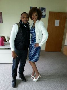 Me and my god son Todd Dulaney. Love him so much! We had an AWESOME TIME in the Lord. Service was OFF THE CHARTS!