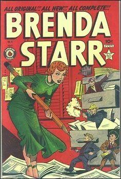Brenda Starr Comics No Comix Book Movie Title