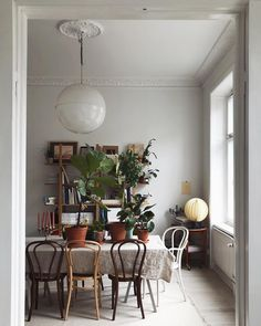 A Family of Plants and Retro Interior make for the most cozy dining rooms | #connox #beunique