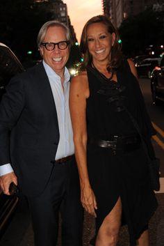 Tommy Hilfiger and Donna Karan [Photo by Steve Eichner]