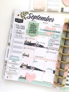 September monthly in the 'Botanical Garden' Happy Planner™️ of mambi Design Team…