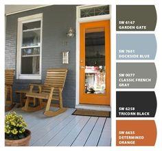 Orange door; nice color palatte from SW