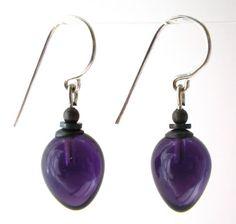 $24.00  10.06.2016 - OWEN-GLASS-EARRINGS-Deep-Amethyst-Mini-Berries-earrings