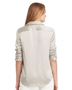 Chemisier en charmeuse de soie - Manches longues Chemises & Blouses - Ralph Lauren France