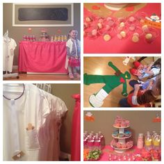 Doc mcstuffins birthday party. I used men's undershirts to make lab coats with stethoscopes.
