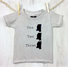 One Mississippi, Two Mississippi, Three Mississippi....... Is your little mudbug ready for a game of hide-n-seek? One MS tee is hand dyed with charcoal in our unique dying process. Because every one i