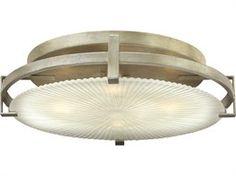 Fredrick Ramond Helios Silver Leaf Four-Light Semi-Flush Mount Light