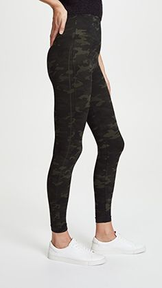 SPANX Seamless Camo Leggings | SHOPBOP Sporty Outfits, Cute Summer Outfits, Athletic Outfits, Cool Outfits, Camo Leggings Outfit, Best Leggings, Tight Leggings, Spanx Faux Leather Leggings, Workout Attire