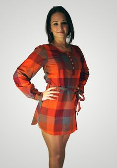 ICHI kostkované šaty