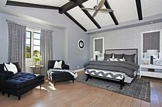 Gray is a perfect choice for the modern bedroom with a cool, masculine aura