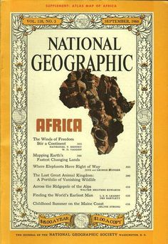 National Geographic Cover, Gifts For History Buffs, Short Names, Africa Map, Vintage Magazines, Art Photography, September, Rage, Advertising