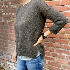 See below for winter variation** The cocoknits Leonie is a relaxed, slouchy tee that you'll knit up quickly and wear constantly. But there is a bonus—the pattern will add some techniques to your knitt