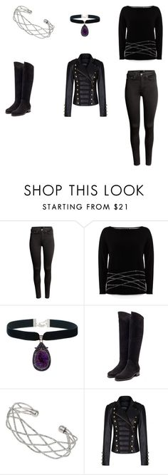 """""""Party with the darkness."""" by kayleighljones on Polyvore featuring H&M, Mint Velvet, Rupert Sanderson and Wallis"""