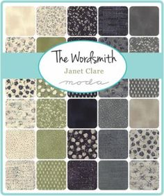 The Wordsmith Fat by Janet Clare for Moda Fabrics - February 2016
