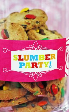 Slumber Party Cookies and Crafts from blog.thecelebrationshoppe and @Ideas To Snack On