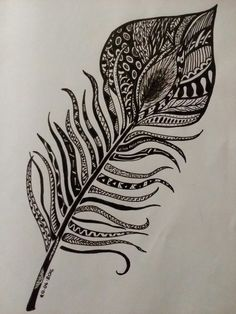 Peacock feather doodle