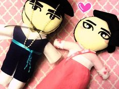 Kdrama Sungkyunkwan Scandal couple Plushies Plush by kirbychan. For more kpop goodies and kpop fan made plushies please visit my KpopStore!