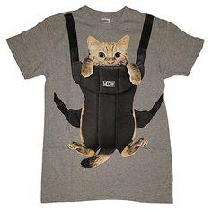 9bb00cbf3bc Amazon.com  Kitty Cat Carrier Graphic T-Shirt  Clothing