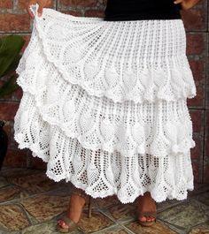 Crochet falda larga con volantes de piñas de Margarida .. Discusión LiveInternet - Servicio de Rusia Diarios Online