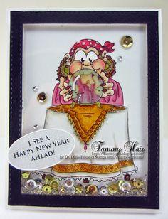 """""""Mystic Mabel"""" digi stamp http://www.doctor-digi.com/mystic-mabel Card by Tammy http://tammy-tammyspot.blogspot.co.uk/"""