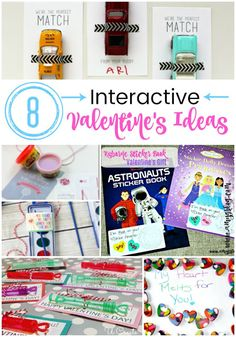 8 Fun and Interactive Valentine's ideas for your toddler or young elementary kids! No food or sweets and all on a budget!